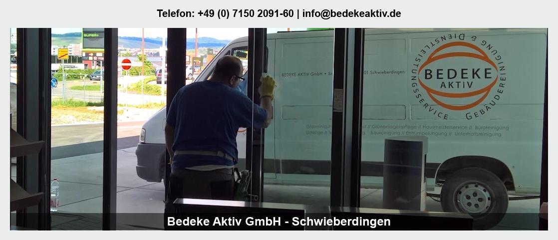 Grundreinigung in Kirchberg (Murr) - Bedeke Aktiv GmbH: Entrümpelung, Glasreinigung, Fassadenreinigung,