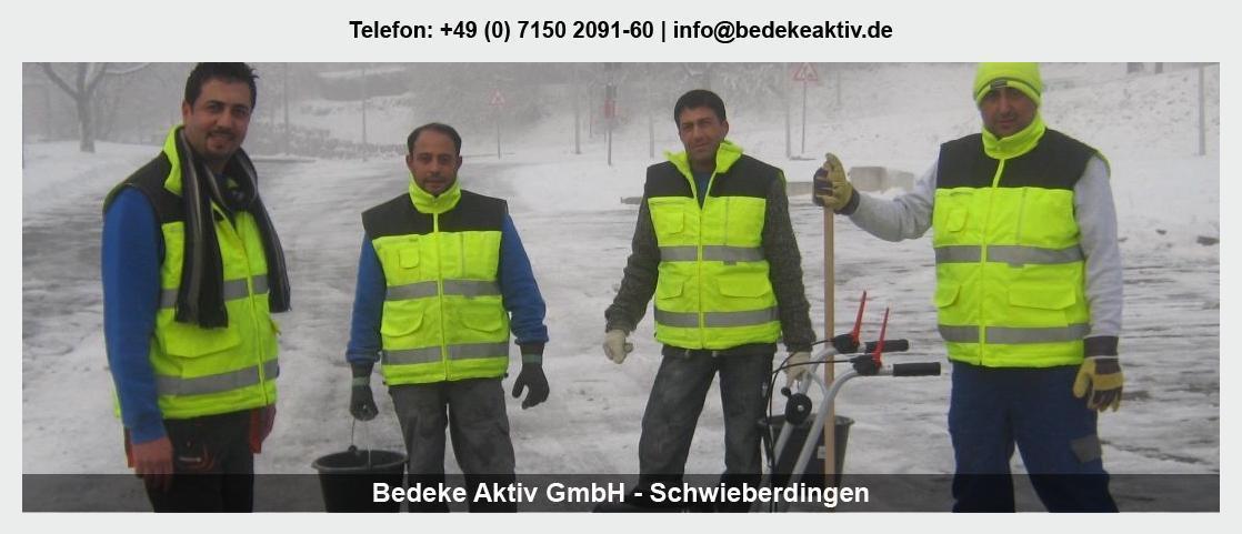 Winterdienst Weingarten (Pfalz) - Bedeke Aktiv GmbH: Dachreinigung, Fassadenreinigung, Teppichreinigung,